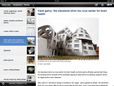 NetNewsWire for iPad