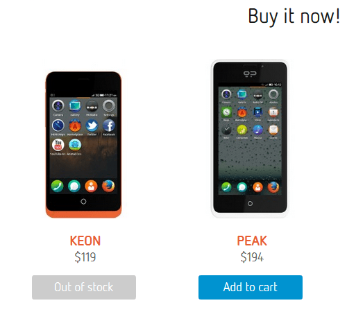 Firefox OS : Keon and Peak
