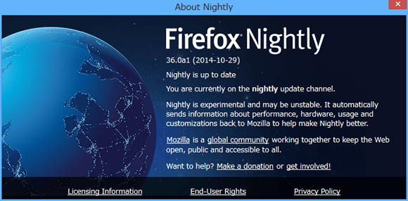 Firefox Nightly (36.0a1)