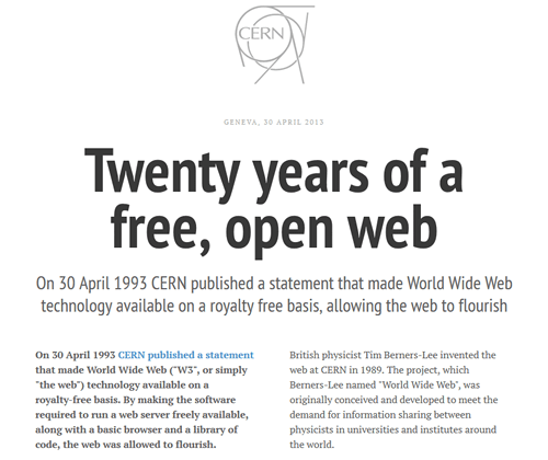 Twenty years of a free, open web