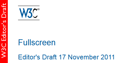 Fullscreen (Editor's Draft)