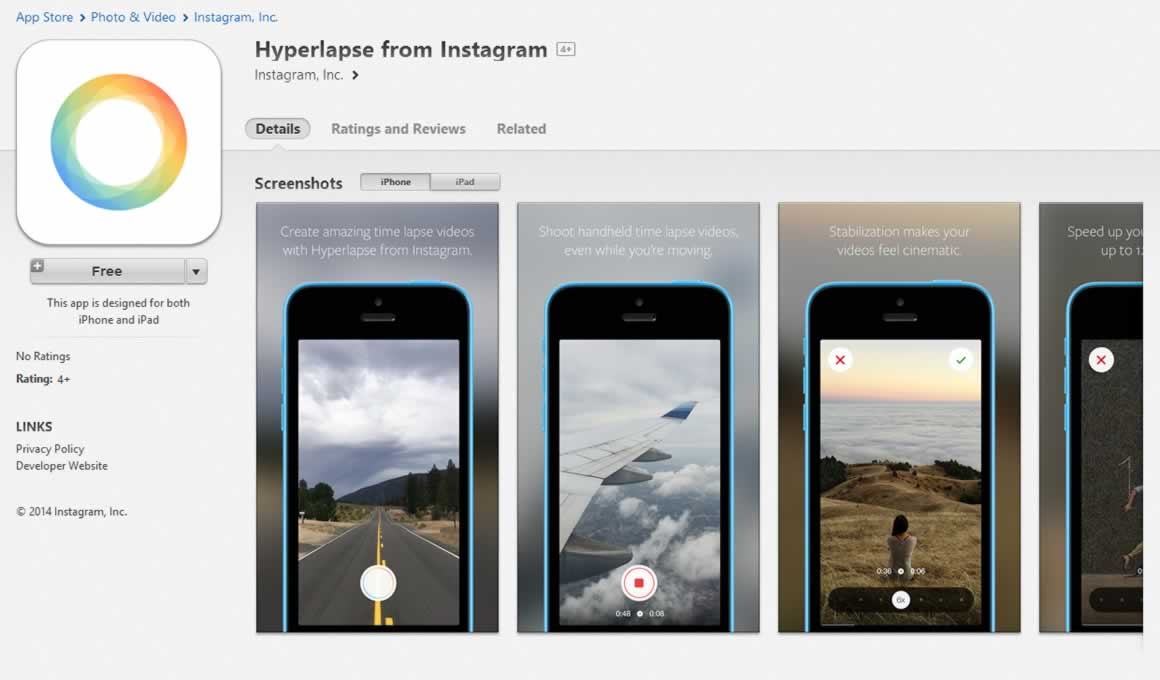 Hyperlapse from Instagram on the App Store on iTunes