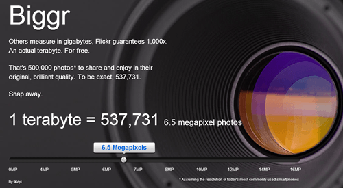 1 terabyte = 537,731 / 6.5 megapixel photos