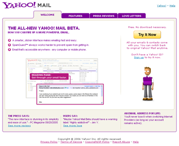 Yahoo! Mail Beta Sign Up